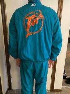 Vintage Miami Dolphins  TEAM NFL Starter jacket & pants Track Suit Mens XL