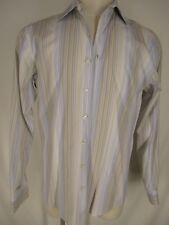 Thomas Pink Mens Multicolor Stripe Long Sleeve Cotton Dress Shirt 41 16-35
