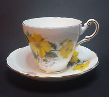 REGENCY English Cup with Saucer Bone China Made in England