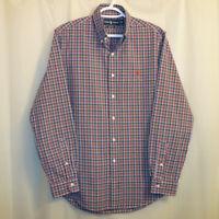 Ralph Lauren Button Front Shirt Men's Medium M Multicolor Checks Long Sleeve