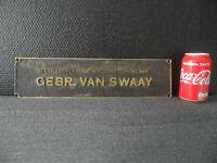 Vintage 3D Dutch Heavy Industrial Bronze / Brass Plate / Plaquette / Plaque #1