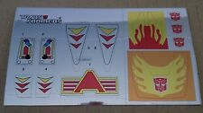 A Transformers premium quality replacement sticker/decal sheet for G1 Hotrod