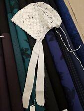 Bonnet De Bébé Ancien en coton au crochet, baby hat