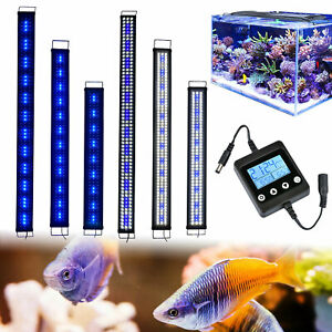 Aquarium Fish Tank LED Light 42-95CM Over-head Lamp Adjustable Plant Lighting UK
