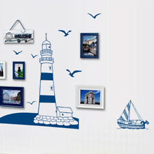 Tower Sailboat Sea Gull Home Art Wall Sticker DIY Decal Paper Decoration Dreamed