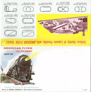ORIGINAL 1958-'59 AMERICAN FLYER FOLDOUT CATALOG - EXCELLENT CONDITION! D2086