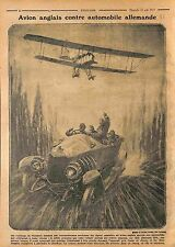 Bataille de la Somme Avion Aircraft Army Air Corps Car Auto Feldgrauen WWI 1915