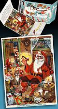 Bel Vecchio Pubblicità Calendario Avvento 1959 Disney Micky Mouse Donald Babbo