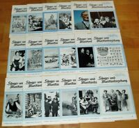 42x Sänger- u Musikantenzeitung 1970er Volksmusik Singweisen Noten Zeitschrift