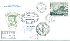 FSAT 1979 cover sign Captain fishing boat Cap Horn French Coastguard