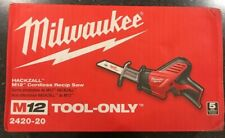 New Milwaukee M12 Hackzall Cordless Reciprocating Saw 2420-20**TOOL ONLY**