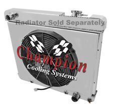 """GM C/K Series Pickup Truck Aluminum Radiator Fan Shroud & 16"""" Fan-17-1/2""""H x 22"""