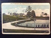 Vintage Postcard>1922>Sunset Park>Lake>Bay Ridge>Brooklyn>New York