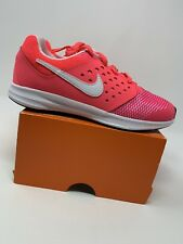 GIRLS: Nike Downshifter 7 Shoes, Pink & White - Size 2Y 869973-600