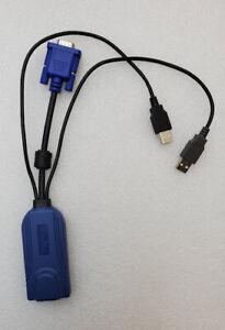 Used Raritan Dominion D2CIM-DVUSB KX2 USB KVM Switch Virtual Media CIM Dongle