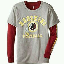 Washington Redskins Youth Burgundy/Gray Fan Gear Squad 3 in1 T-Shirt Combo sz XL