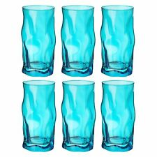 Bormioli Rocco Sorgente Sky Blue Tumbler Tumblers Glasses - 460ml - Set of 6