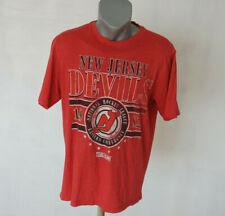 New Jersey Devils NHL FAN Shirt CCM Jersey Red Size L Cotton Hockey