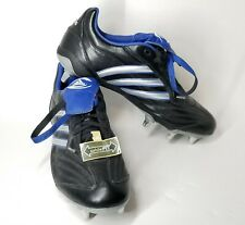 Adidas Flanker IV WideFit Rugby Boots Mens Size 12 929613 Black Blue Silver NWT