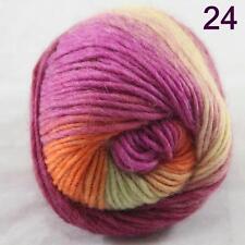 SALE NEW Chunky Colorful Hand Knitting Scores Wool Yarn Fushsia Yellow Green