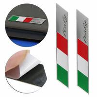 2X Italian Flag Logo Emblem Badge Car Auto Motorcycle Decorative Decor Stickers