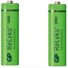 2 X Gp Recyko Aa 2000 MAH Wiederaufladbare Batterien - Immer Bereit