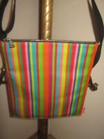 """Jack Spade CROSSBODY / TOTE Bag """"STRIPED"""" 12"""" W x 14"""" H (MINT CONDITION)"""