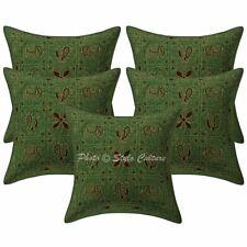 Ethnic Decorative Sofa Cushion Covers 16x16 Ari Embroidered Cotton Pillowcases