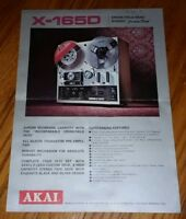 X-1650 AKAI REEL TO REEL MACHINE RECORDER PLAYER sales flyer PROMOTIONAL vintage