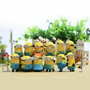 12 Minions Figuren - Ich einfach unverbesserlich DESPICABLE ME Spielzeug Puppe