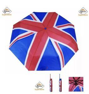 NEW FOLDING MINI UMBRELLA UNION JACK FLAG BROLLY COVER UNISEX OLYMPICS JUBILE UK