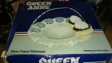 Queen Anne Antique Silver Plate Plates/Platters/Trays