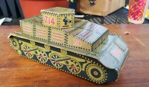 Vintage Rare WW2 Era 714 Tank Shaped Fanny Farmers Candies Candy Box Toy