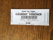 Wynn Hotel  Las Vegas Opening Day  April 28 2005 Voucher and paper