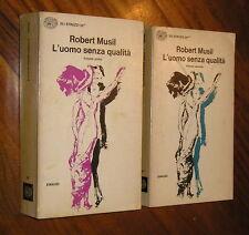 L'uomo senza qualità Robert Musil Anita Rho 2 vol Einaudi 1972
