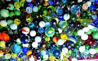 Vintage Glass Marbles Lot Of 15 Colorful Peltier Marble King Akro Agate Vitro +