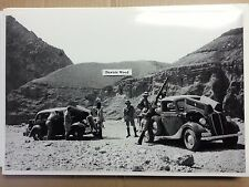 """12 By 18"""" Black & White PICTURE 1935 Ford 1936 Ford truck Foreign Military photo"""