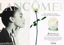 PUBLICITE ADVERTISING 065  1997  LANCOME  cosmétiques ( 2p)  RENERGIE