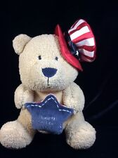 Koala Baby Born In The USA Teddy Bear Rattle Soft Toy Plush Uncle Sam Patriotic