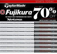 NEW set of 8 TaylorMade GRAPHITE IRON SHAFTS .370 STIFF FUJIKURA MOTORE 75