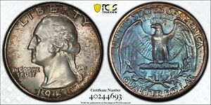 1958 Washington Quarter PCGS MS67 Original DMS Toned Silver Registry Coin TV