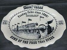 THE BIG TEXAN restaurant STEAK platter Homer Laughlin China USA TEXAS ROUTE 66