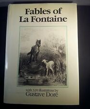 Fables of La Fontaine w/ illustrations by Gustave Dore 1988 hardcover