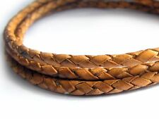 Lederband, 1 m, 3 mm, mittelbraun