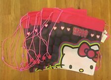 7 Hello Kitty Drawstring Backpack Sling Bag Birthday Party Favors NEW