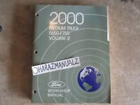2000 Ford F-650 F-750 Medium Truck Wiring Diagrams Manual OEM VOLUME 2 ONLY!!