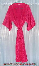 Thai Silk Kimono / Robe / Dressing Gown / Bright Pink