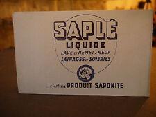 BUVARD SAPLE LIQUIDE PRODUIT SAPONITE