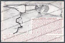 SIRACUSA CITTÀ Cartolina 12. Serie CASA DEI VIAGGIATORI - Edizione DANESI 1912