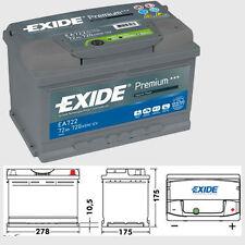 EA722 100 exide premium battery 5 yr warranty